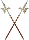 Two crossed halberds Stock Photo