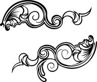 Two Ornate Curves. Stock Photos
