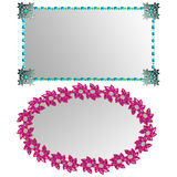 Two Ornate Faux graphic Jewel Frames Royalty Free Stock Images