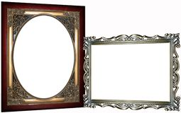 Two Ornate Frames Royalty Free Stock Photo