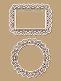 Two ornate paper frames Stock Photos