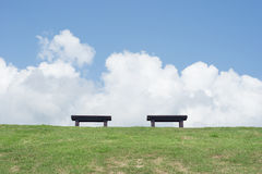 Two outdoor chair Royalty Free Stock Photography