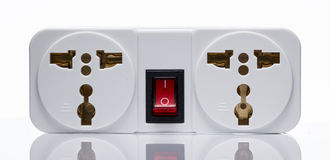 Two outlet plug adapter Royalty Free Stock Image