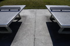 Two outside Ping-pong table Stock Image