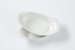 Two oval bowls Stock Images