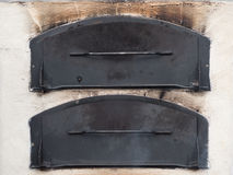 Two oven doors Royalty Free Stock Photos
