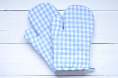 Two oven gloves Stock Photo