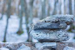 Two overlapping contact stones. Royalty Free Stock Image