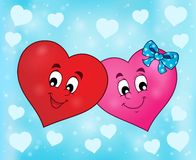 Two overlapping stylized hearts theme 2 Royalty Free Stock Image
