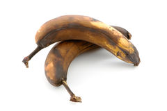 Two overripe bananas Stock Photography