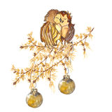 Two owl Royalty Free Stock Photo