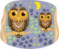 Two owl Stock Photo