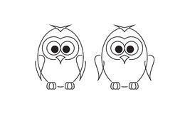 Two owlet-penguin Royalty Free Stock Photos