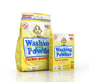 Two pack of washing powder on white background. Stock Photography