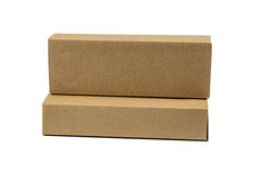 Two package brown cardboard box for long items. Mockup, isolated Royalty Free Stock Image