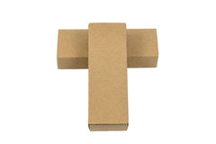 Two package brown cardboard box for long items. Mockup, isolated Royalty Free Stock Photography