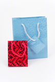 Two packages. For gifts isolated on a white background Royalty Free Stock Photo
