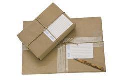 Two Packages/Parcels Stock Images