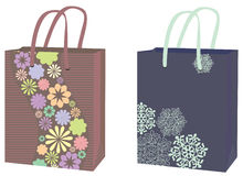 Two packages for purchases Stock Photo