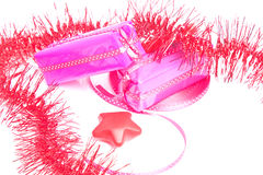 Two packages with red decorations Stock Photography