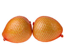 Two packed pomelos Royalty Free Stock Images