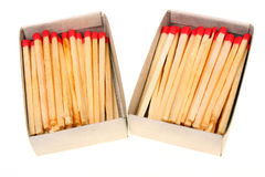 Two packs of matches Stock Images