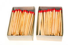 Two packs of matches Royalty Free Stock Images