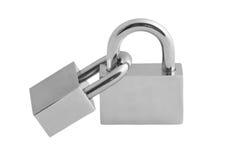 Two padlocks. Stock Image