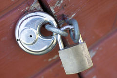 Two padlocks Stock Photo