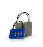 Two Padlocks On White Royalty Free Stock Images