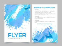 Two Page Brochure, Template or Flyer for Business. Abstract design decorated Professional Brochure, Template or Flyer presentation with front and back page view Royalty Free Stock Photo