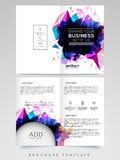 Two Page Brochure, Template or Flyer for Business. Abstract Two Page Brochure, Template or Flyer design with space to add image for Business concept Stock Image