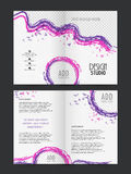 Two page Brochure, Template or Flyer for Business. Two Page abstract Business Brochure, Template or Flyer design with space for your image Royalty Free Stock Photos