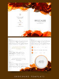 Two page Brochure, Template or Flyer for Business. Two Page abstract Business Brochure, Template or Flyer design with space for your image Royalty Free Stock Images