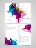 Two Page Brochure, Template or Flyer for Business. Colorful abstract design decorated, Creative Two Page Brochure, Template or Flyer for Business concept Royalty Free Stock Photo