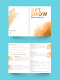 Two page Brochure, Template or Flyer for Business. Creative abstract, Two Page Brochure, Template or Flyer design for your Business Royalty Free Stock Photos