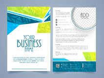 Two page Brochure, Template or Flyer for Business. Creative Two Page, Business Brochure, Template or Flyer design with space for your image Royalty Free Stock Image