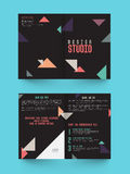 Two page Brochure, Template or Flyer for Business. Royalty Free Stock Images