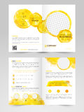 Two Page Brochure, Template or Flyer for Business. Creative Professional Two Page Brochure, Template or Flyer design with space for your images Royalty Free Stock Image