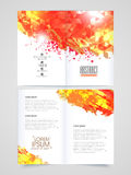 Two page Brochure, Template or Flyer for Business. Creative professional two page Brochure, Template or Flyer presentation decorated with abstract design for Royalty Free Stock Photography