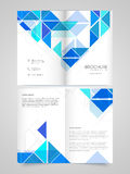 Two Page Brochure, Template or Flyer for Business. Professional Business Brochure, Template or Flyer design with front and back page presentation Royalty Free Stock Photography