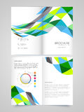 Two Page Brochure, Template or Flyer for Business. Professional Business Brochure, Template or Flyer design with front and back page presentation Stock Image