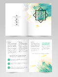 Two page Brochure, Template or Flyer for Business. Professional Business Brochure, Template or Flyer design with front and back page presentation Stock Photography