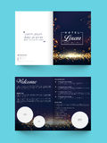 Two page Brochure, Template or Flyer for Business. Two Page, Shiny Brochure, Template or Flyer design with space to add images for Hotel Business concept Stock Photography