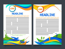 Two Page Brochure, Template for Sports concept. Royalty Free Stock Photography