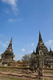 Two Pagoda at Wat Phra Sri Sanphet Stock Photography