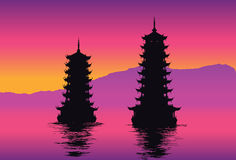 Two pagodas Royalty Free Stock Image