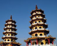 Two Pagodas Royalty Free Stock Images