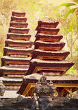 Two pagodas in the temple complex. Indonesia, Bali island Stock Image