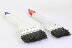 Two paint brush isolated on a white background. Two paint brush isolated on a white Royalty Free Stock Photography